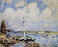 courtauld-sisley-alfred-bateaux-sur-le-sein